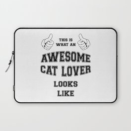 AWESOME CAT LOVER Laptop Sleeve