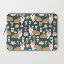 Corgi coffee welsh corgis dog breed pet lovers blue corgi crew pet lovers Laptop Sleeve