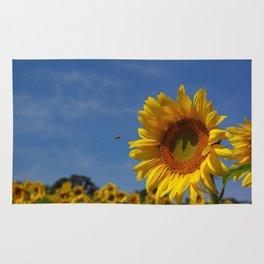 Sunny Summer Sunflower Rug