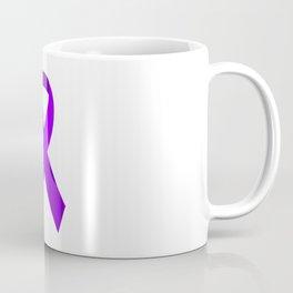 Purple Awareness Support Ribbon Coffee Mug