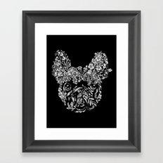 Botanical frenchie Framed Art Print