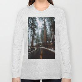 Foggy Forest Wanderlust Long Sleeve T-shirt