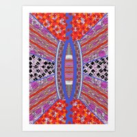 geo Art Prints featuring GEO by RED ROAD STUDIO