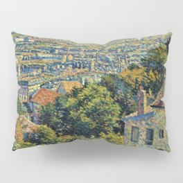 Classical Masterpiece 1900 'Paris - Montmartre' by Maximilien Luce Pillow Sham