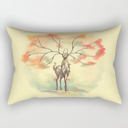 Essence of Nature - A Deer's Echo Rectangular Pillow
