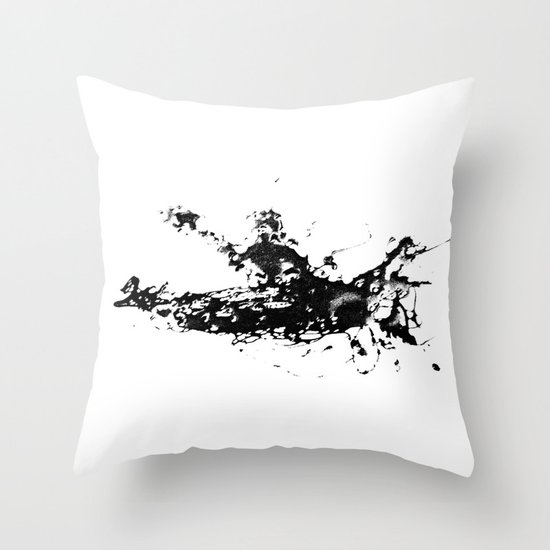 Kayaker in the Fog Throw Pillow