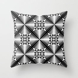 Geometric damask pattern Throw Pillow