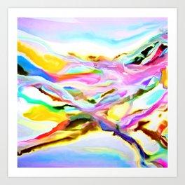 Coastal Color Abstract Art Print