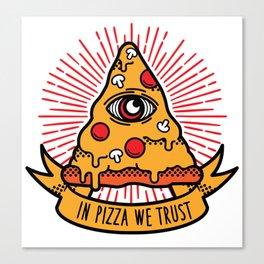 Pizza illuminati Canvas Print