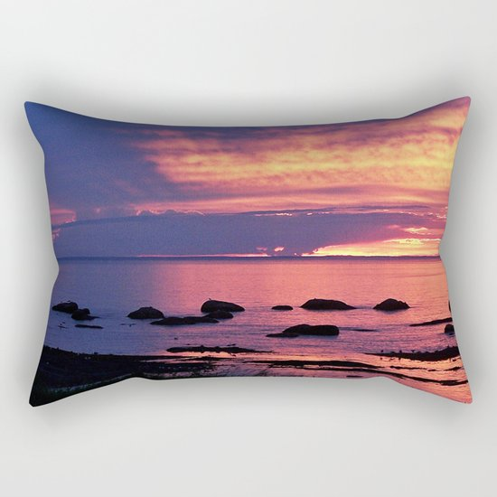 Sunset on the Mighty St-Lawrence Rectangular Pillow