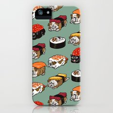 Sushi English Bulldog iPhone SE Slim Case