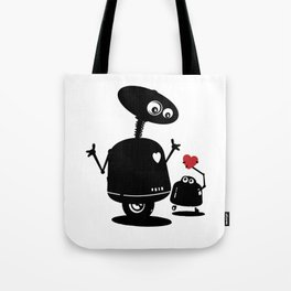 Robot Heart to Heart Tote Bag