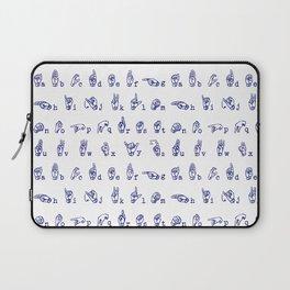 ASL Alphabet // Blue Laptop Sleeve