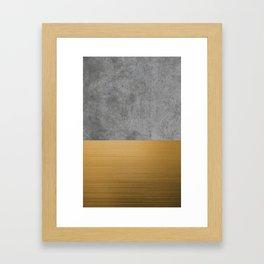 Concrete x Gold Framed Art Print