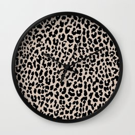 Tan Leopard Wall Clock