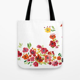the daily creative project: romantic flowers Tote Bag