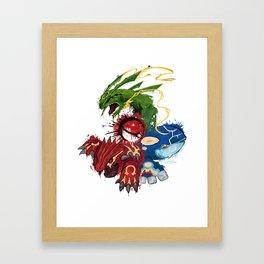 Hoenn splash Framed Art Print
