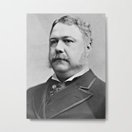Chester A. Arthur, President of the United States Metal Print
