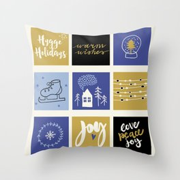 Hygge Holidays Throw Pillow