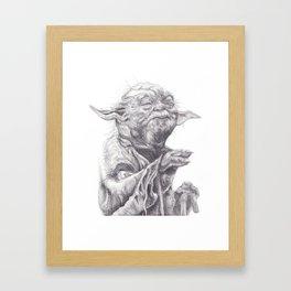 Yoda sketch Framed Art Print