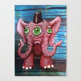 Pachyderm Goes Both Ways Canvas Print