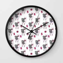 Sloth Llama Wall Clock
