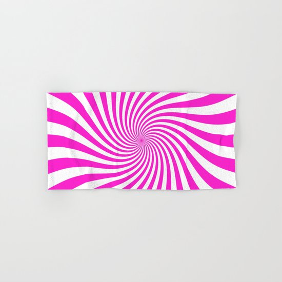 Swirl (Hot Magenta/White) Hand & Bath Towel