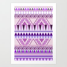 Aztec; Purple Dreams Art Print