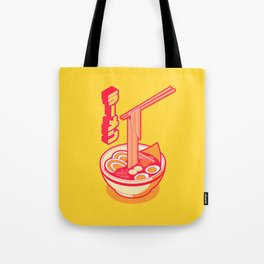 Japanese Ramen Isometric Minimal - Solid Yellow Tote Bag