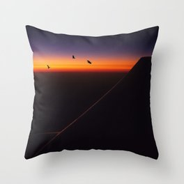 Horizon Sunset Throw Pillow