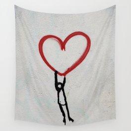 heart wall Wall Tapestry