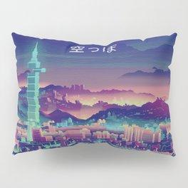 Vaporwave Japanese City Pillow Sham