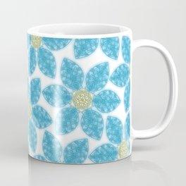 Blue Flower Garden Coffee Mug