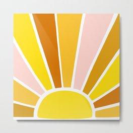 Sun Ray Burst Metal Print