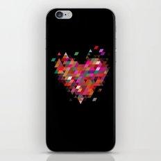 Heart1 Black iPhone & iPod Skin