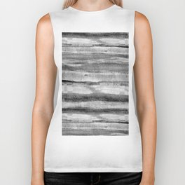 Layers grayscale abstract natural pattern Biker Tank