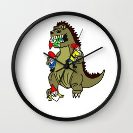 Gnome Eating Monster Wall Clock