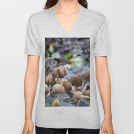 Mushroom City | Nature Photography Unisex V-Neck