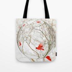 Cardinal Refraction Tote Bag