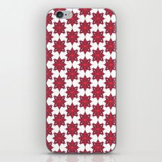 Flowery Red iPhone Skin