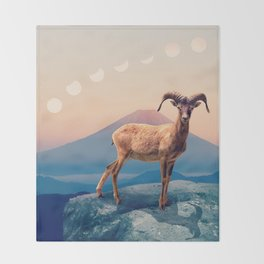 Mountain Ibex by GEN Z Throw Blanket