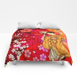 日没 (sunset) Comforters