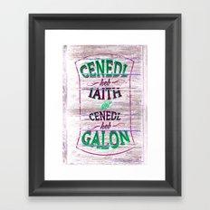 Cenedl Framed Art Print