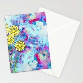 Morning Yellow Flowers Stationery Cards