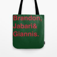 milwaukee Tote Bags featuring Milwaukee Bucks by Will Wild