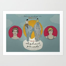 Promotional Poster for the band Elephant Parade Art Print