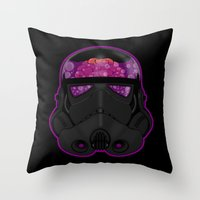 trooper Throw Pillows featuring Trooper by Betmac