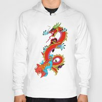 dragon Hoodies featuring dragon  by mark ashkenazi