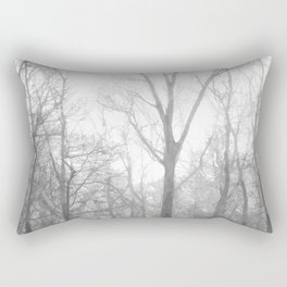 Black and White Forest Illustration Rectangular Pillow