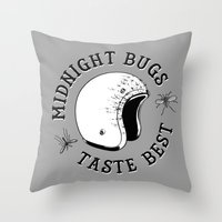 bugs Throw Pillows featuring Bugs by The Junkers